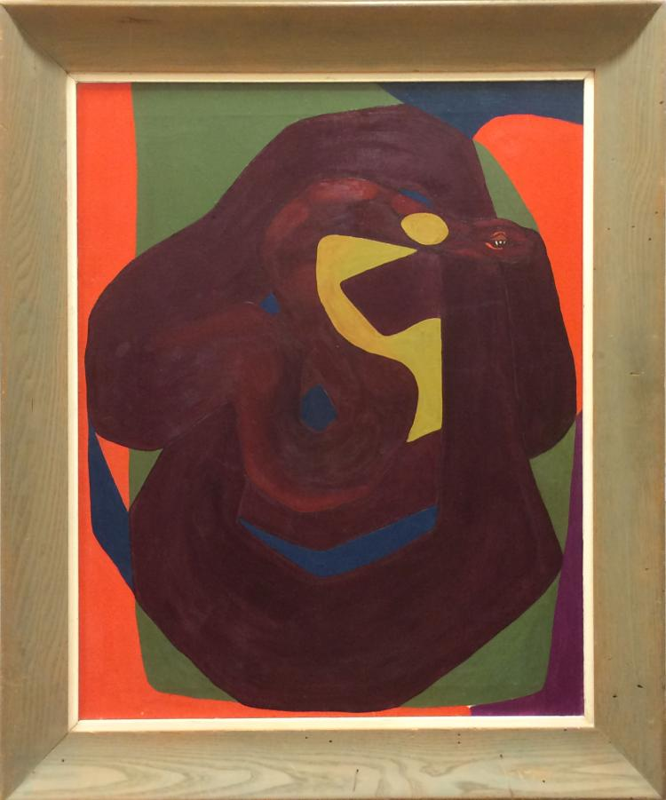Abstracted Snake, Oil Painting, c.1960