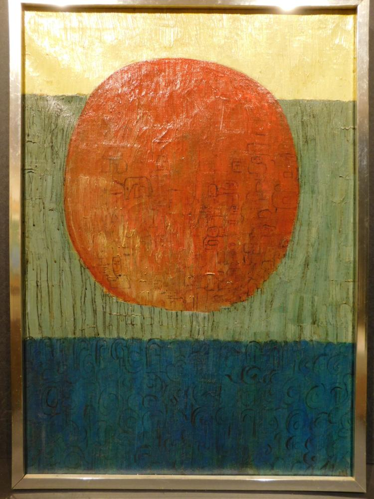 P. Taylor Reed: Sunscape, Oil on Canvas c.1960