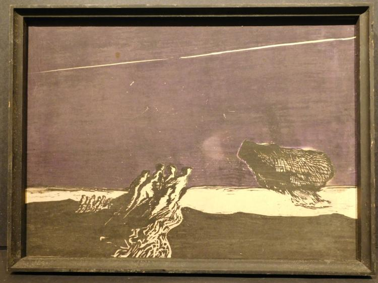John L. Thompson: Abstract Composition, c.1963 Woodcut