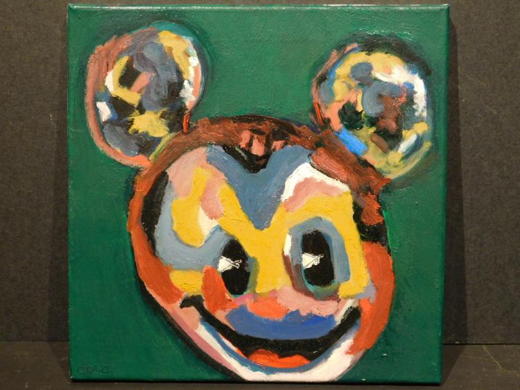 Cole: Mickey Mouse Modern Acrylic Painting