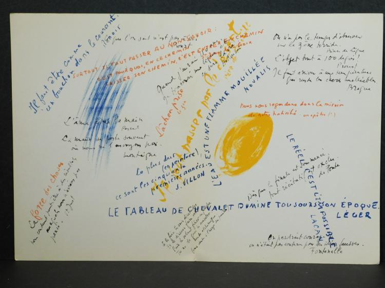 Jean René Bazaine: Original Color Lithograph 1972