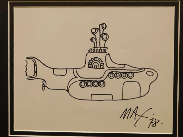 Peter Max: Drawing of Yellow Submarine, 1978