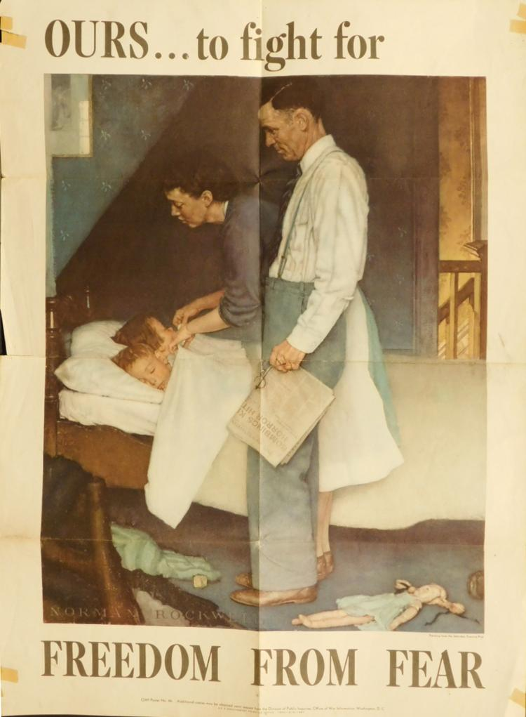 Norman Rockwell War Bonds Poster: Freedom From Fear