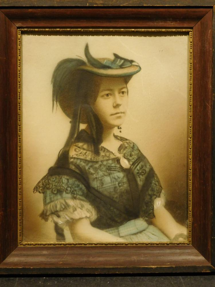 Hand Colored Portrait Photograph of a Victorian Woman