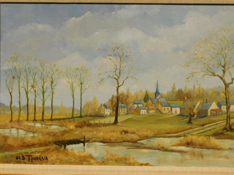 B. Touraix: Le Clocher de l'Eglise, French Landscape