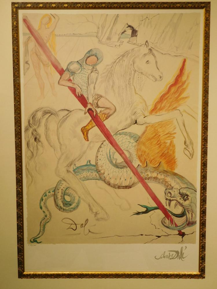 Salvador Dali: St. George and the Dragon, lithograph edition