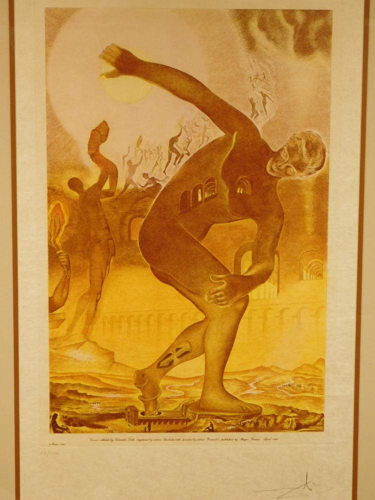 Salvador Dali: Cosmic Athlete, 1984 Etching, signed