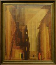 After Lionel Feninger: Church of the Minorities II, Lithograph