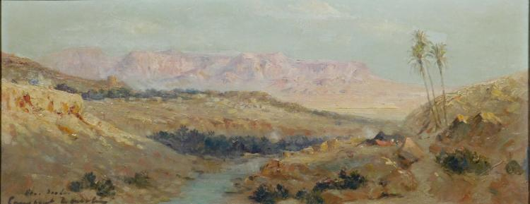 Constant Lauche: Sous Sudan, Landscape, Oil on Canvas, c. 1950
