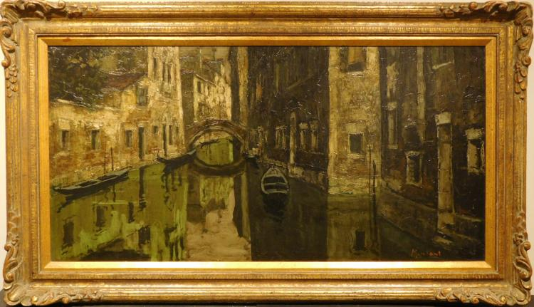 Mintani: A Venice Canal in Shadows, c.1965