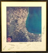 Chicago, 1973 Skylab photo with NASA Autographs
