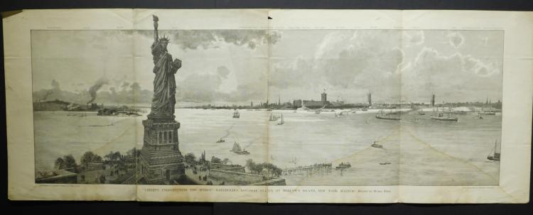 New York: Liberty Enlightening The World, 1886 Engraving