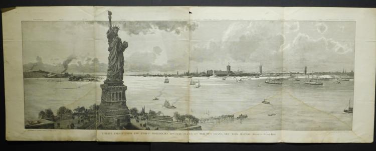 New York: Liberty Enlightening The World, 1886 Engraving