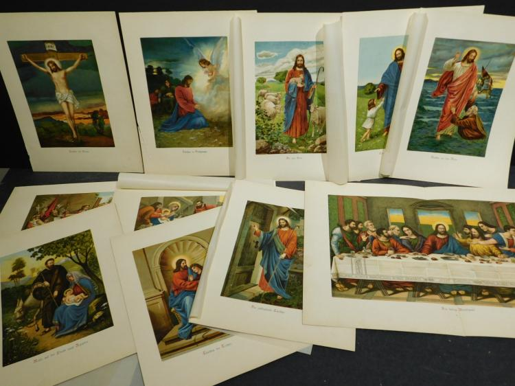 Approx. 60 Christian Chromolithographs & Engravings