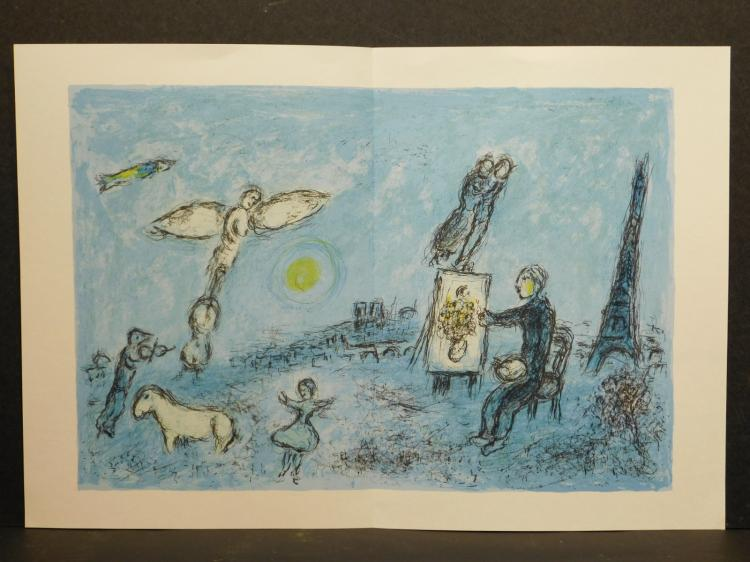 Marc Chagall: Double-Page Original Lithograph, 1981
