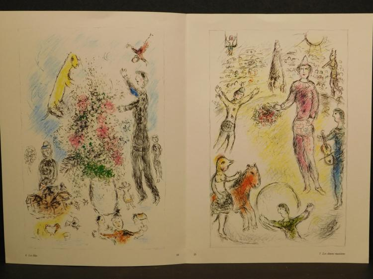 Marc Chagall: Four Lithographic Reproductions, 1981
