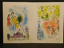 Marc Chagall: Two Lithographic Reproductions, 1981