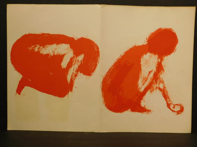 Claude Garache: Female Nudes, Three Original Lithographs, 1975
