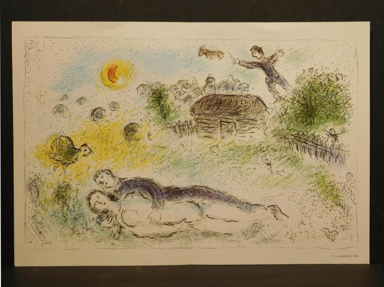 Marc Chagall: Three Lithographic Reproductions, 1981