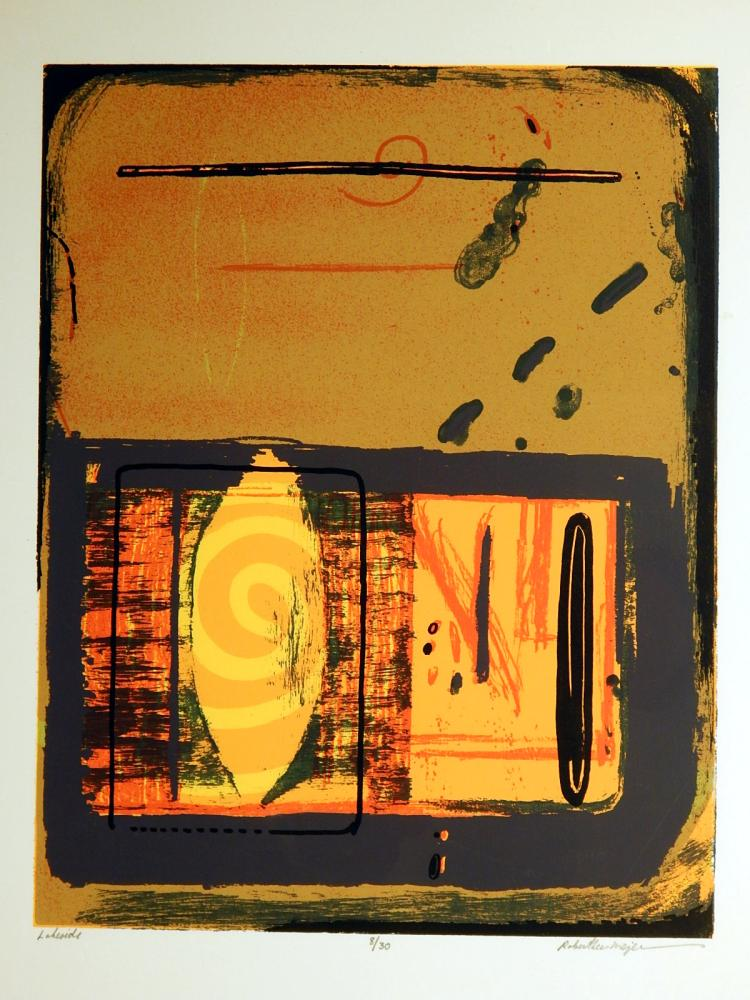 Robert Lee Mejer: Lakeside, 1998 Serigraph