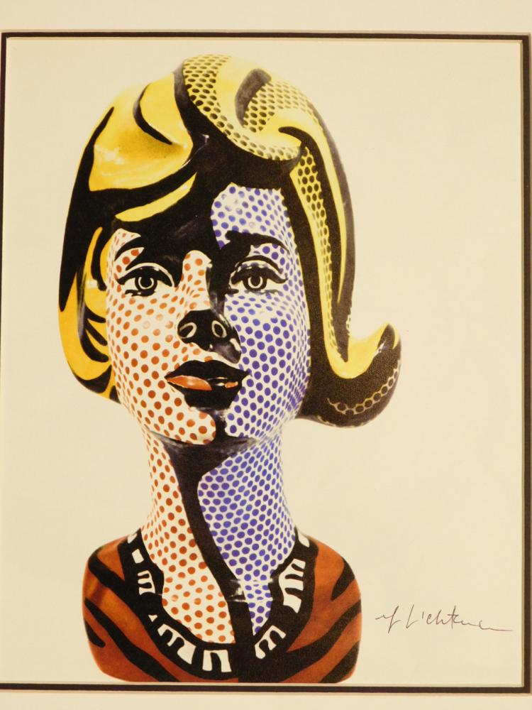 Roy Lichtenstein: Signed Photographic Print of Sculpture