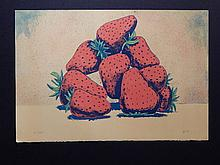 Aaron Fink: Strawberries, 1984 Color Lithograph