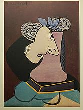 Pablo Picasso (After): Straw Hat With Blue Foliage, Lithograph