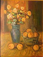 Max Pechstein: Still Life Floral Oil Painting c.1915