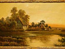 Walter Waller Caffyn: South Mimms, 1893 Oil Painting