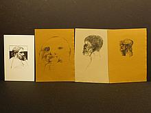 Leonard Baskin:  4 proof pages with gravures, c1960