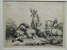 Francesco Londonio: Sleeping Shepherd, 1763 Engraving