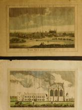 2 Engravings:View of Eaton College, in Buckingham, West View of Cambridge