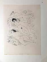 Marcel Vertes: Drypoint Engraving of Female Nudes 1930