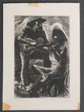 Ed Demers: Mountain Singers Etching c.1950