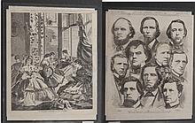 Winslow Homer: 2 Prints.Making Havelocks & Georgia Delegation