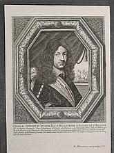 Balthazar Moncornet: Portrait of Charles Stuart II, 1660 Engraving