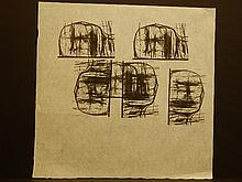 Leonard Baskin Proof Sheet With Wood Engravings