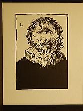 Leonard Baskin Wood Engraving Proof Sheet
