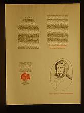 Leonard Baskin: Herman Melville Proof 1967