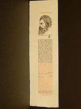 Leonard Baskin: 1962 William Morris Text + Wood Engraving