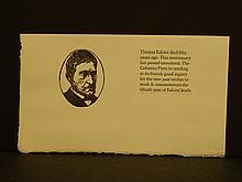 Leonard Baskin: 1966 Thomas Eakins Memorial Keepsake