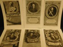 Six Engravings Of Famous 16th Century Men