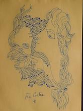 Jean Cocteau: Mermaids, drawing