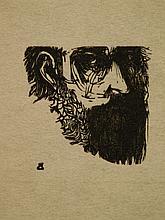 Leonard Baskin Proof Sheet With Wood Engraving