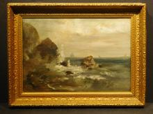 New England Seascape, c.1880 oil painting