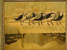 Howard Besnia: Quinnipac Gulls, New Haven, Conn. 1950 oil