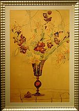 Faun S. Forse: Floral Still Life 1936 watercolor