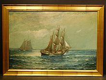 James J. McAuliffe: Fishing Ships, 1919 Oil painting
