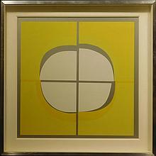 Amadeo Gabino: Untitled Serigraph on Aluminum c.1970