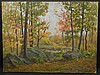 Frank Chester Perry: Autumn Woodland Landscape, Oil on Canvas, Frank Chester Perry, $260